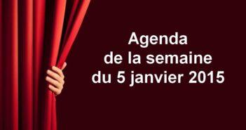 agenda 5 janvier