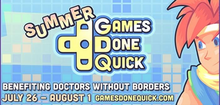 Summer Games Done Quick combat la maladie! Edition 2015
