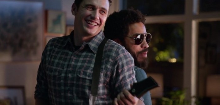 James Franco et Lenny Kravitz, l'affrontement Guitar Hero Live