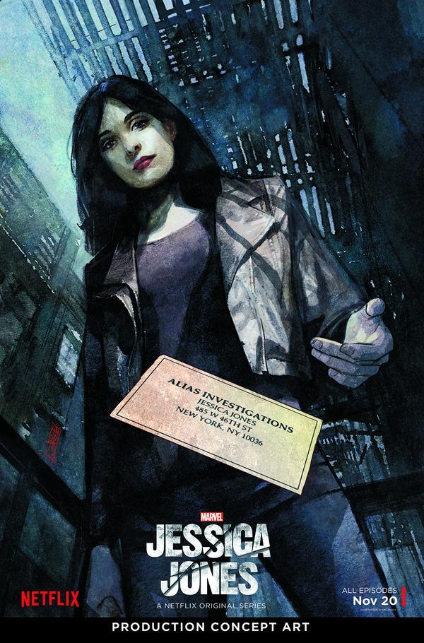 Marvel's Jessica Jones illustrée au NYCC !