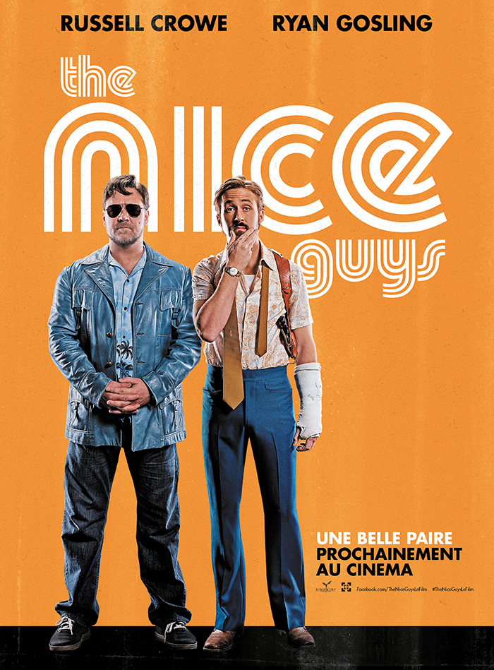 Russel Crowe et Ryan Gosling s'affichent pour The Nice Guys !