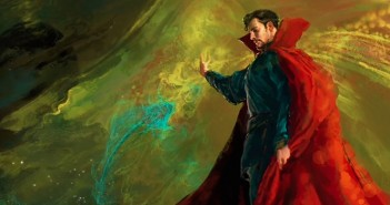 Cumberbatch en costume de Strange dans un comics shop !