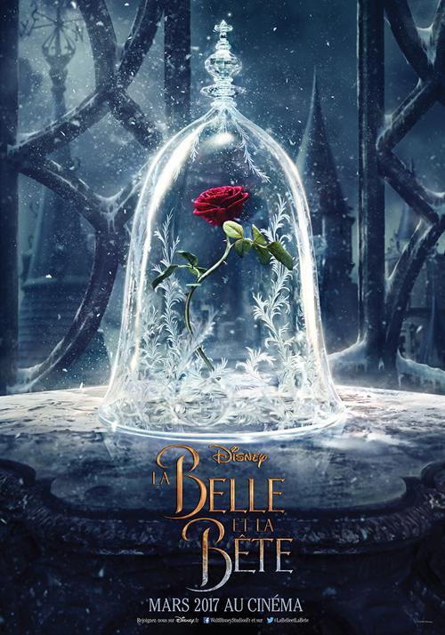 Un teaser poster floral pour la Belle et la Bête !