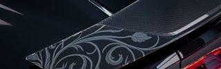 L'Audi R8 aux couleurs de Final Fantasy garée au Mondial de L'Automobile !