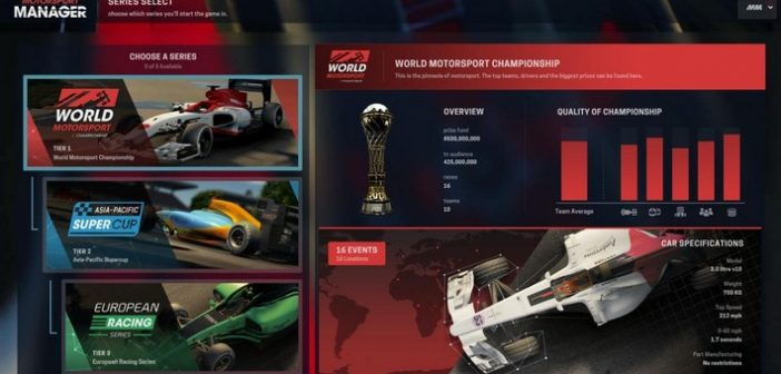 Motorsport Manager check les configurations avant le départ !