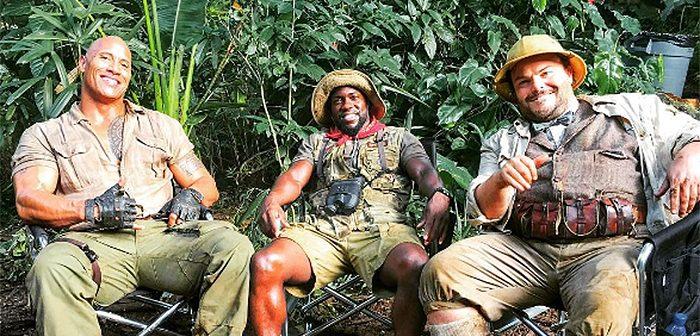 Une nouvelle photo et une vidéo au cœur de la jungle de Jumanji !