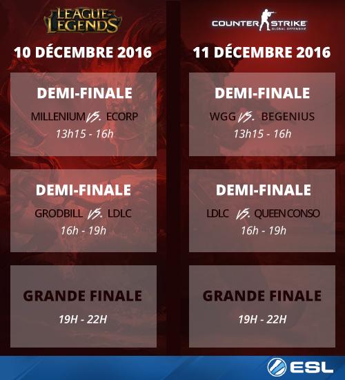 Le Championnat National ESL dévoile sa date des finales !
