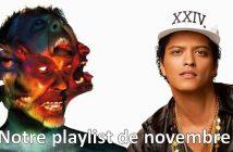 Notre playlist du mois de novembre