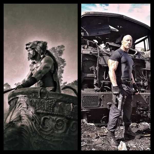Dwayne Johnson sur Hercule et Fast 7