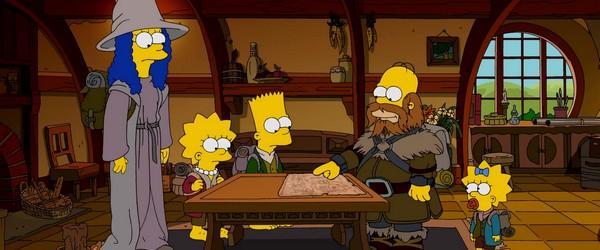Lorsque les Simpson détournent Le Hobbit