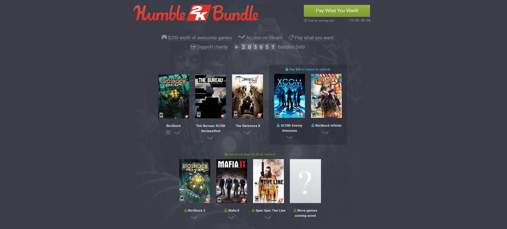 Humble Bundle accueille 2K Games_1