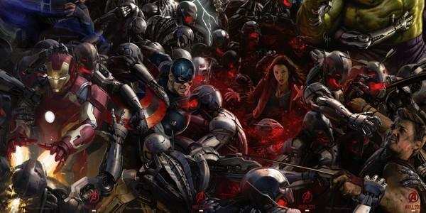 Un immense poster pour Avengers : Age of Ultron.