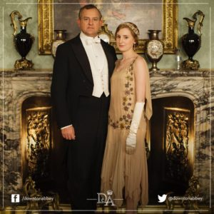 Downton Abbey - Lord Gratham et Edith et intrus