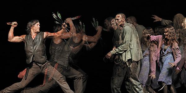 Les héros de The Walking Dead prennent la pose