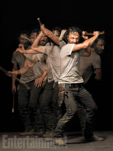 rick_Les héros de The Walking Dead prennent la pose