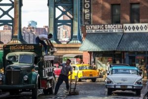 Steven Spielberg directs 'St. James Place' a Cold War thriller in Dumbo in Brooklyn
