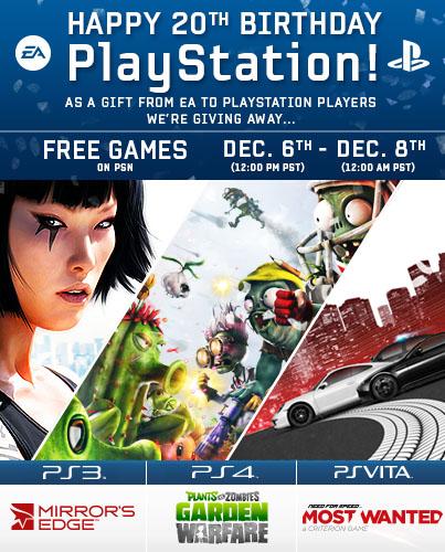 EA Games fête les 20 ans de la playstation