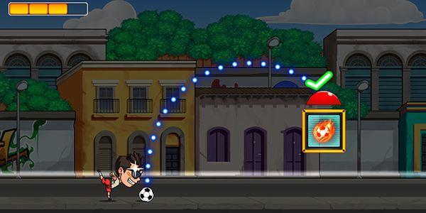 Soccer Dash : un joueur de foot à lunettes