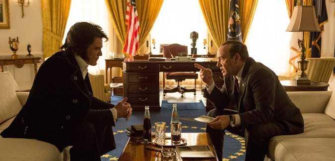 Michael Shannon et Kevin Spacey dans Elvis & Nixon