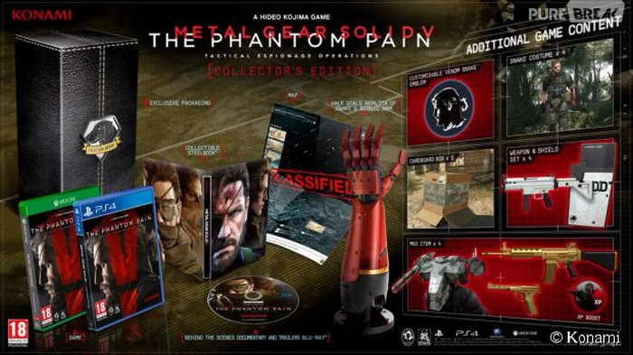 Les éditions collector du Metal Gear Solid V qui sort le 1er septembre.