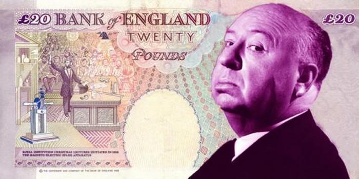 La figure d'Hitchcock sur un billet de banque ?