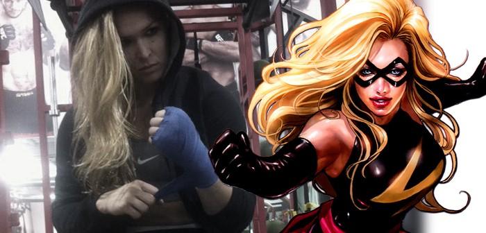 Ms Marvel dans les cordes de Ronda Rousey !