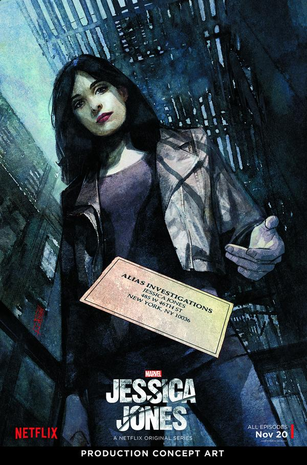 Marvel's Jessica Jones illustrée au NYCC !