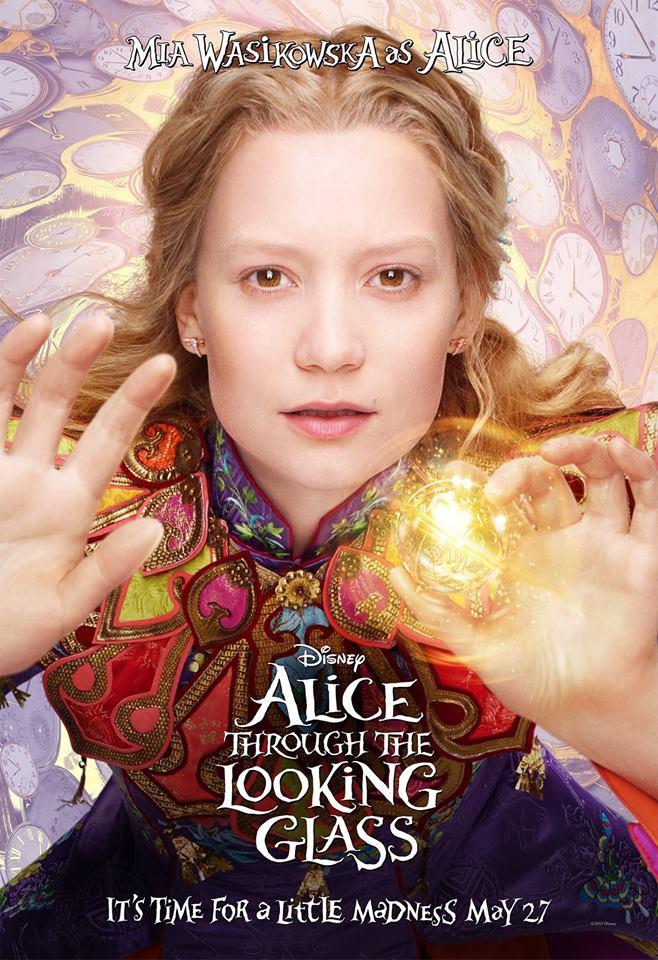 Alice de l 39 autre c t du miroir les affiches personnages for De l autre cote du miroir