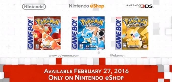 Pokemon Version Bleu, Rouge, et Jaune : en février sur 3DS !