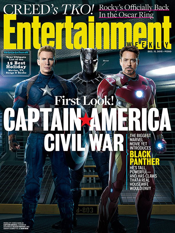 Captain America : Civil War fait la couverture d'Empire !