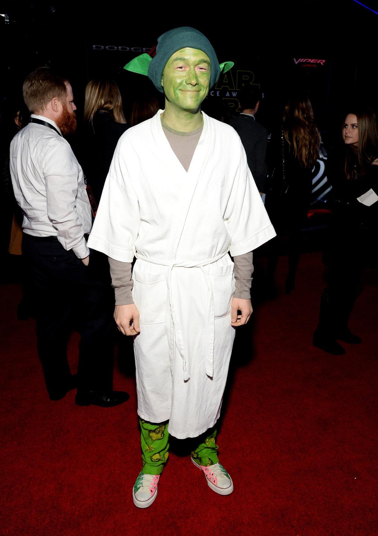 Joseph Gordon-Levitt en Yoda sur le tapis rouge est déguisé