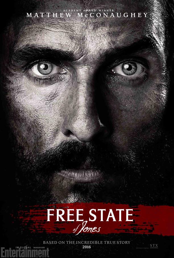 L'affiche de Free State of Jones sous l'œil de McConaughey !