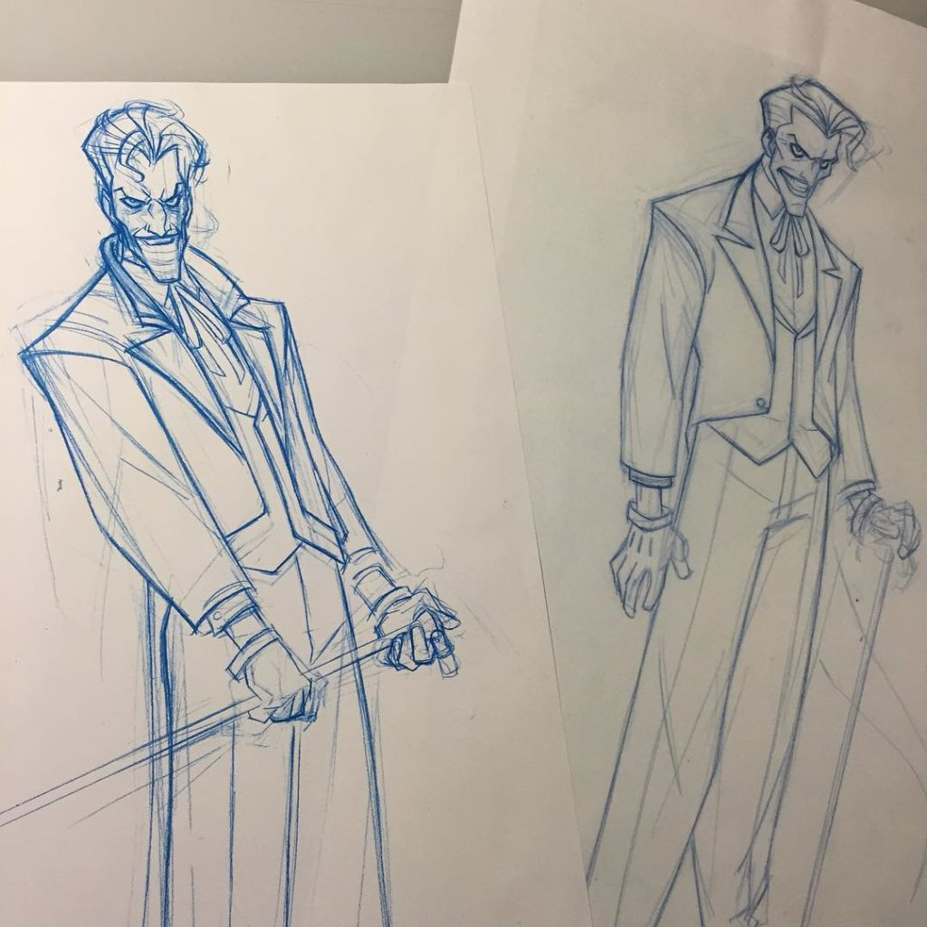 Un concept-art pour le Joker de The Killing Joke !