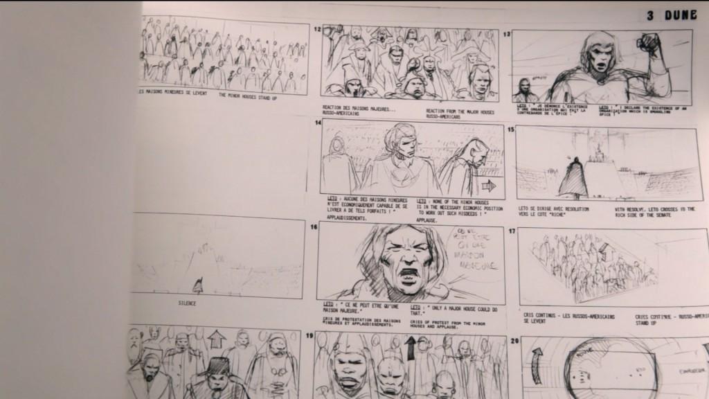 Storyboard de Dune, dessins de Meobius