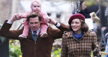 Brad Pitt et Marion Cotillard en tournage à Londres pour Robert Zemeckis