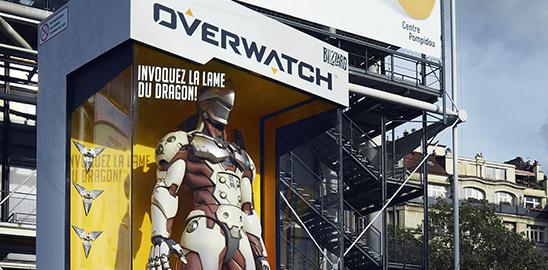 Un Genji géant à Paris pour la sortie d'Overwatch