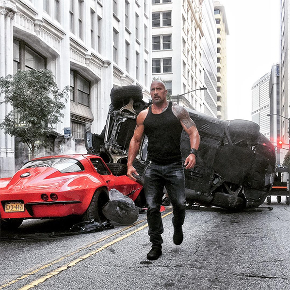 The Rock en forme sur les images de Fast 8 !