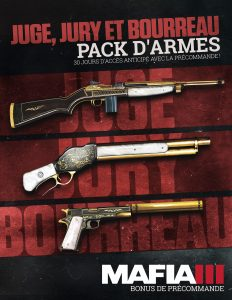 2K Mafia III Pack d'armes Juge, Jury et Bourreau (offre de précommande)