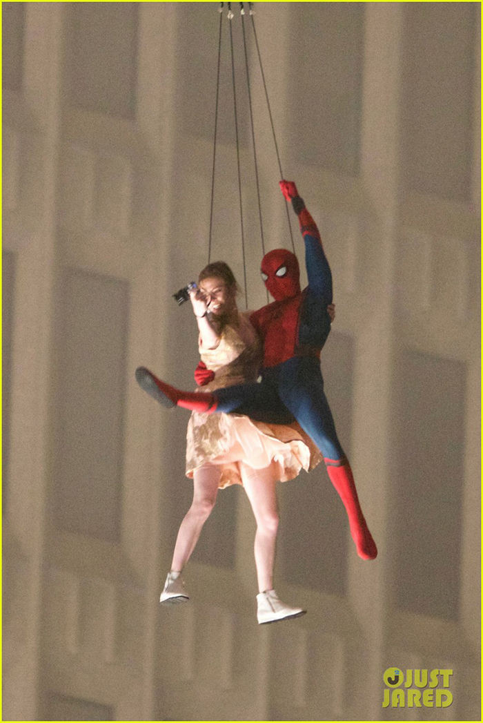 Spider-Man : Homecoming – des images d'acrobaties… en hélicoptère !