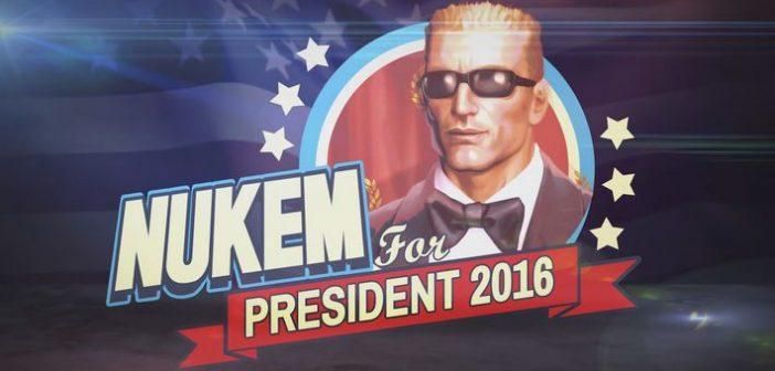 Pour ses 20 ans, Duke Nukem se présente aux élections présidentielles !