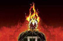Le Ghost Rider nous montre son crâne (en feu)