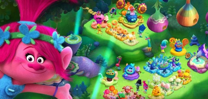 Trolls: Crazy Party Forest : du film au jeu mobile !