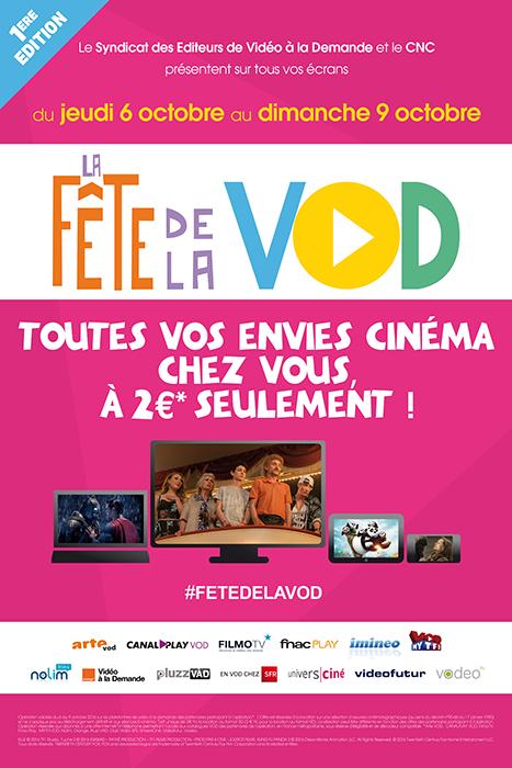 Du 6 au 9 octobre 2016, participez à la première Fête de la VOD !