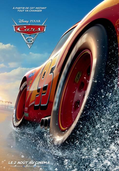 Après le teaser, Cars 3 dévoile sa première affiche officielle !