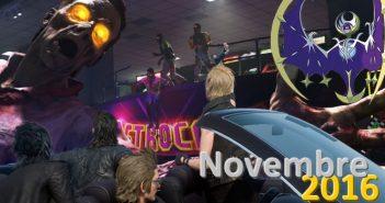 Jeux vidéo : quoi de beau pour novembre 2016 ?