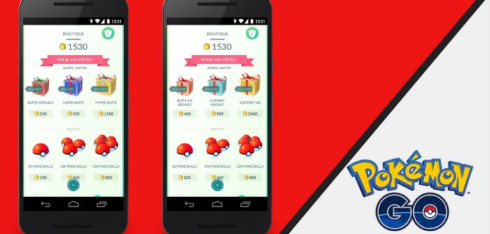 Pokémon GO : des boîtes surprises pour les fêtes !