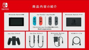 Contenu des packs Nintendo Switch