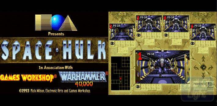 Remontons en des temps anciens sur Amiga, PC et PC-98. En 1993 débarquait alors un épisode de la franchise orienté jeu de tir tactique en temps réel. Le jeu s'avère très stratégique avec la possibilité de contrôler une escouade de 5 terminators. Partez à l'assaut d'un vaisseau Space Hulk et mettez la pâtée à la vermine genestealer. Si le jeu a vieilli, son intérêt est toujours intacte, même 24 ans après.