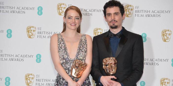 Emma Stone et Damien Chazelle BAFTA 2017