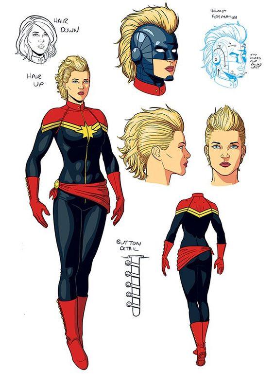 Captain Marvel : un artwork du costume et les réalisateurs dévoilés !